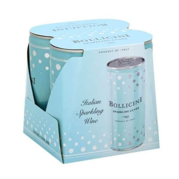 Bollicini 4pk sparkling wine cans for sale online