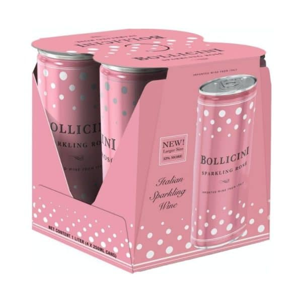 Bollicini Sparkling Rose 4-Pack Cans For Sale Online
