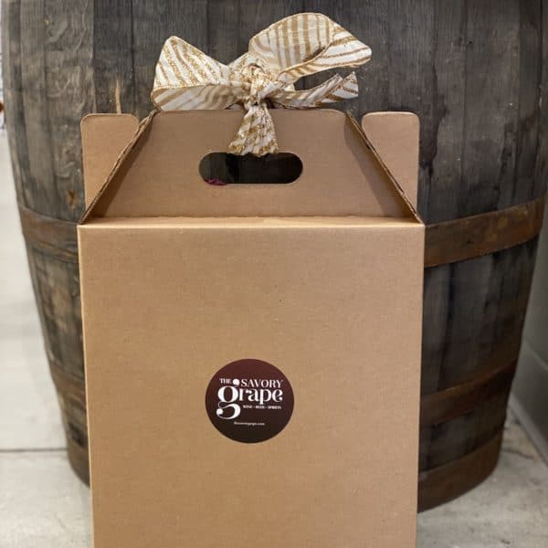 three bottle wine gift box