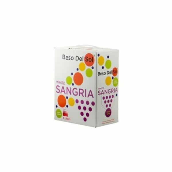 beso del sol white sangria 3l box - sangria for sale online