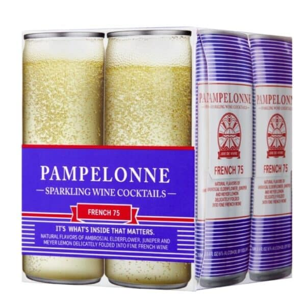 pampelonne sparkling wine french 75 canned wine cocktail - canned wine for sale online