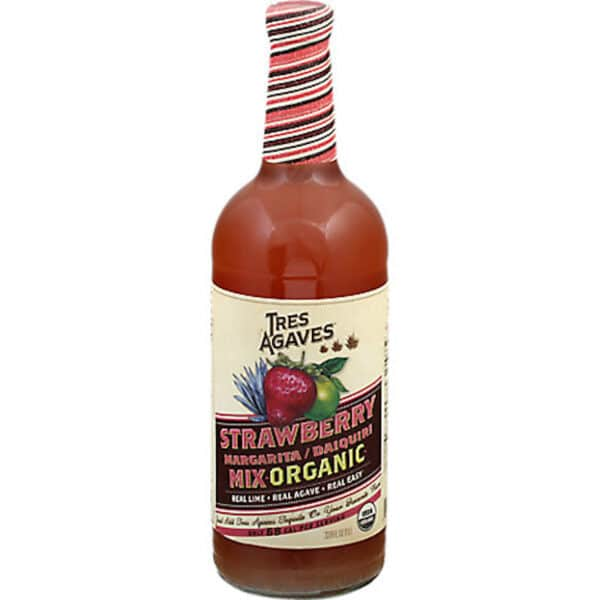 tres agaves strawberry margarita mix - cocktail mix for sale online