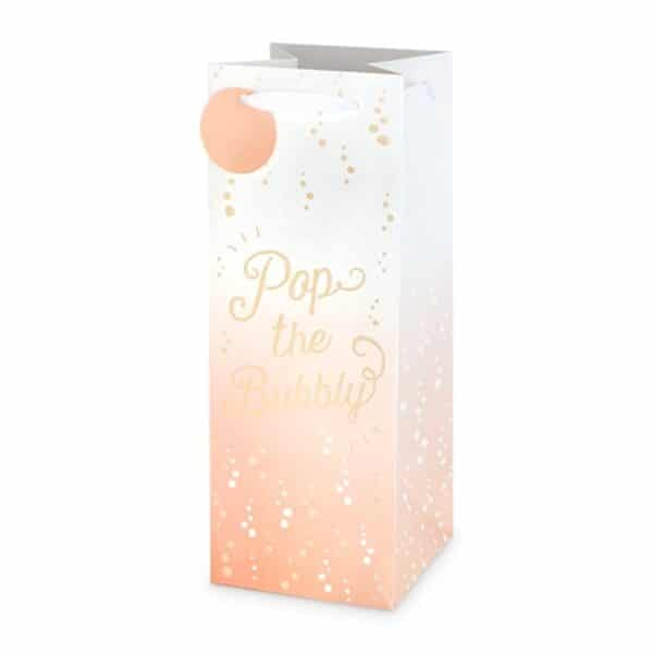 pop the bubbly gift bag - wine gift bags for sale online