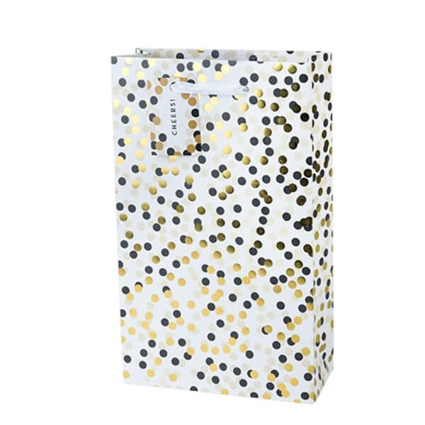 tuxedo dot 2 bottle wine bag - wine gift bags for sale online