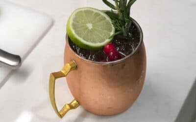 Winter Spice Mule Cocktail