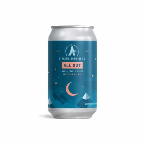 athletic brewing all out stout - non alcoholic beer for sale online