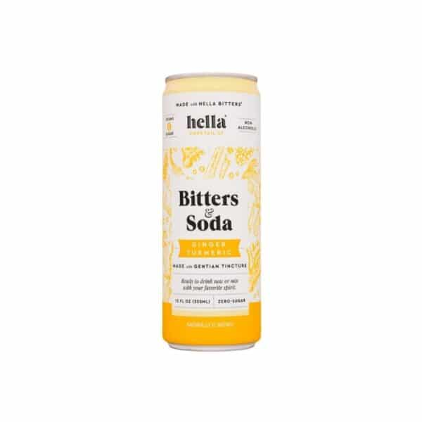 hella bitters and soda ginger turmeric - cocktails for sale online