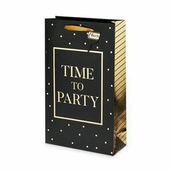 time to party 2 bottle wine gift bag - wine gift bags for sale online