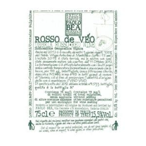 Paolo Bea Rosso de Veo 2015 For Sale Online