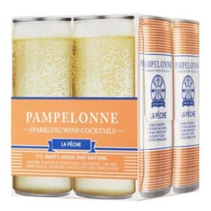 pampelonne sparkling wine cocktail peach - canned wine for sale online