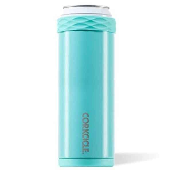 corkcicle slim arctican gloss turqouise - koozies for sale online