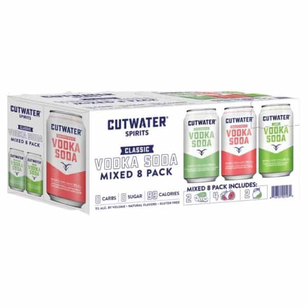 cutwater vodka soda variety pack - canned cocktails for sale online