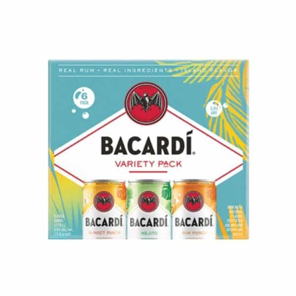 bacardi variety pack ready to drink cocktails - canned cocktails for sale online