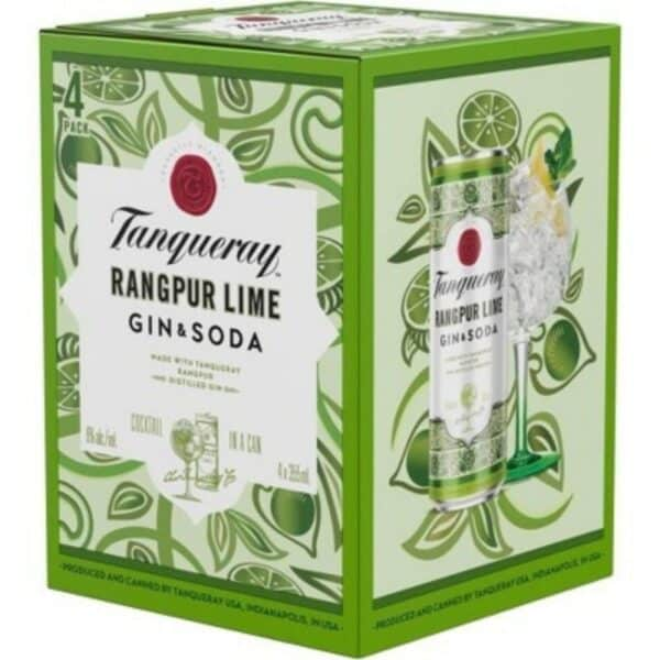 Tanqueray rangpur gin and tonic ready to drink cocktails