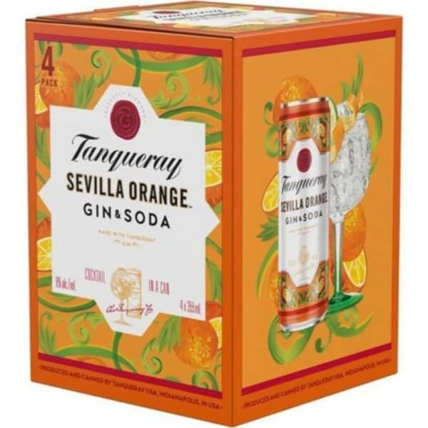 tanqueray sevilla orange gin and soda - canned cocktail for sale online