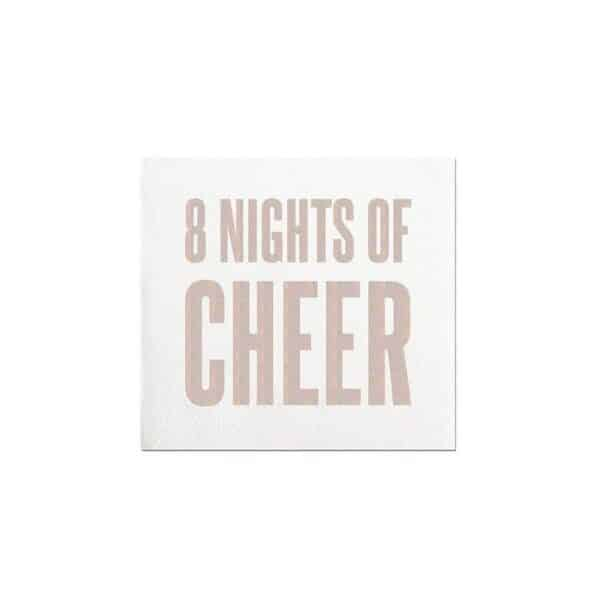 8 nights of cheer cocktail napkins - cocktail napkins for sale online