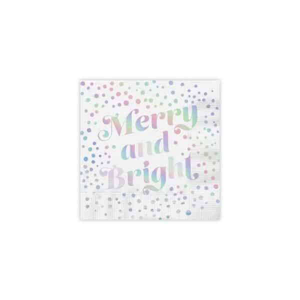 merry and bright cocktail napkins - cocktail napkins for sale online