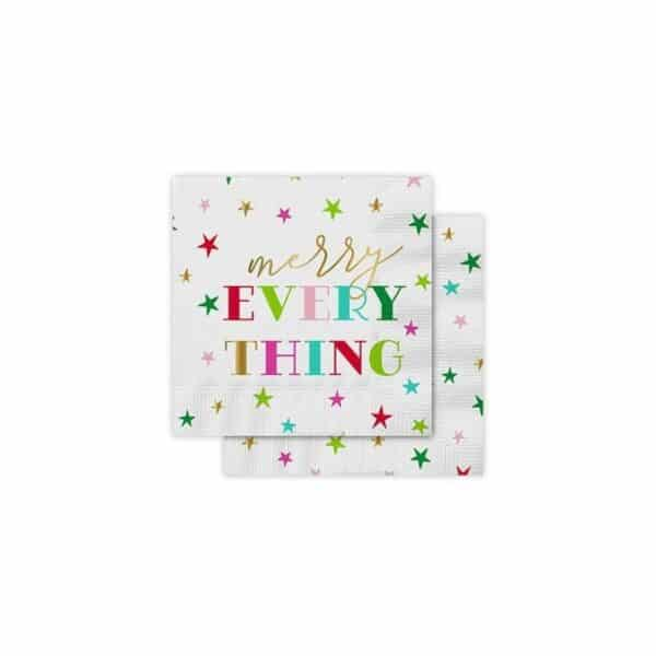 merry everything cocktail napkins - cocktail napkins for sale online