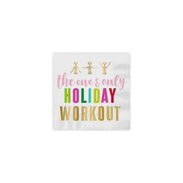 the one and only holiday workout cocktail napkins - cocktail napkins for sale online